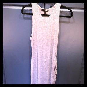 Banana Republic maxi dress with ruched sides.